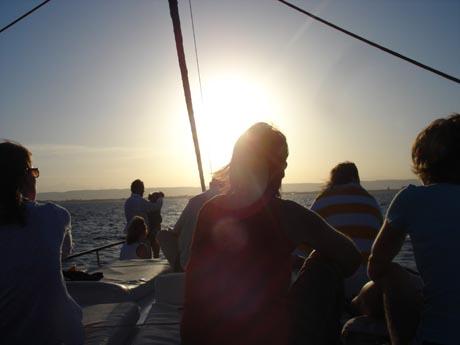 Abendstimmung am Roten Meer