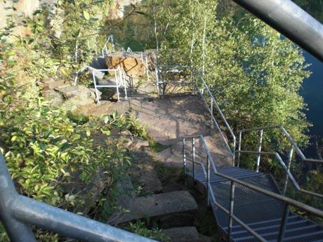 Tauchsee Horka: Der Abstieg
