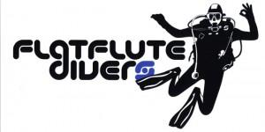 Das Flat Flute Divers Logo